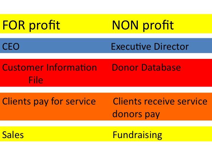 Non Profit Vs For Profit Industries Marketing For Nonprofits